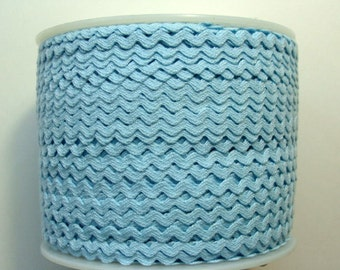"7/32"" Rick Rack - Polyester - Light Blue"