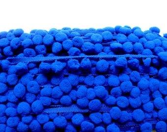 Pom Pom Fringe - Royal Blue - 3 yards