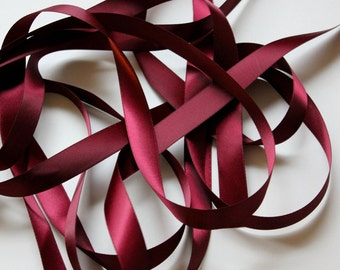 "5/8"" Double-Faced Satin Ribbon -  Wine"