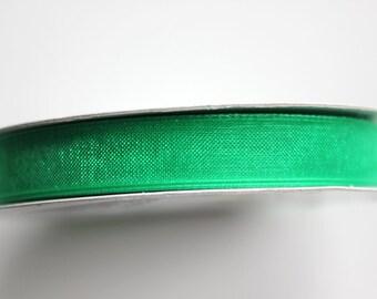 "3/8"" Organza Ribbon - Emerald Green - 25 yard spool"