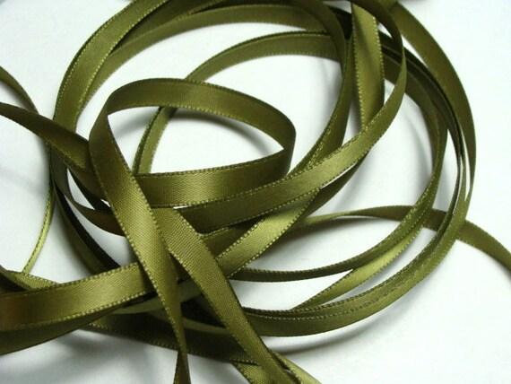 "1/4"" Satin Ribbon - Spring Moss - 10 Yards"