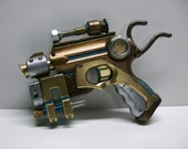 Steampunk pistol modified Nerf gun nitefinder --with working red light--