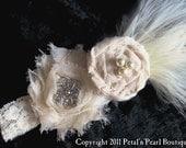 Rush order for KIM-Vintage Inspired Bridal Garter in Ivory - Single Keepsake Garter