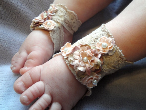 Items similar to Baby Sandals, Baby Shoes, Baby Barefoot ...