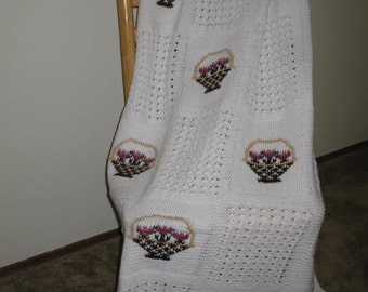 Flowers & Lace Afghan