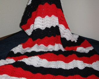 Red, White & Blue Afghan