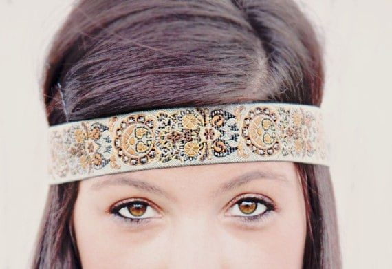 The Indian Princess Headband, Indie, elastic closure, beautiful ornate detail