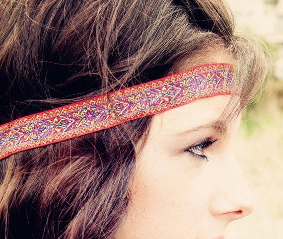 The Moroccan Sun Bohemian Headband, Glorious Colors, beautiful ornate detail, Exotic