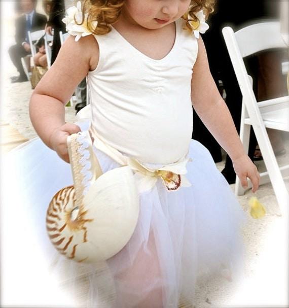 Alternative Flower Girl Basket Ideas : Items similar to beach wedding nautilus shell alternative