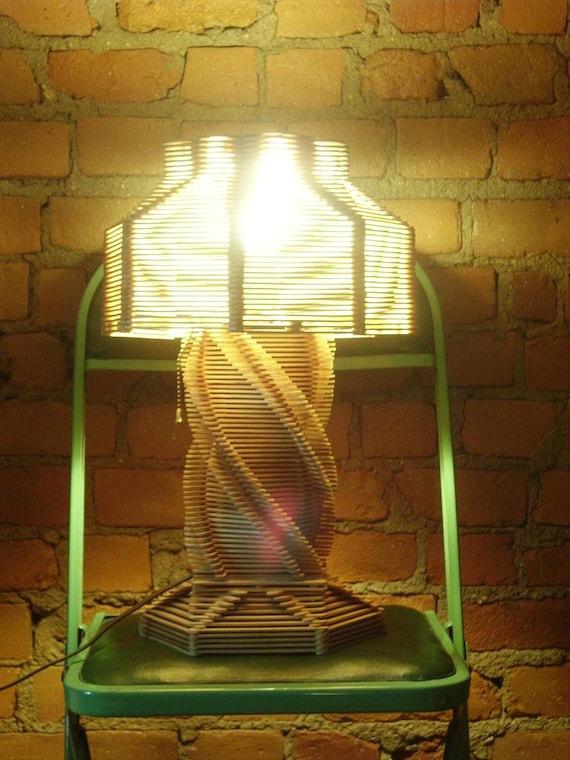 Vintage Popsicle Stick Lamp By Missmaudvintage On Etsy