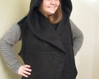 Bat Shaped Hooded Scarf with Pockets
