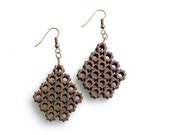 eco friendly chandelier earrings - Bamboo 8 Sided Star Earrings.  natural bamboo,  geometric wood jewelry. fall fashion
