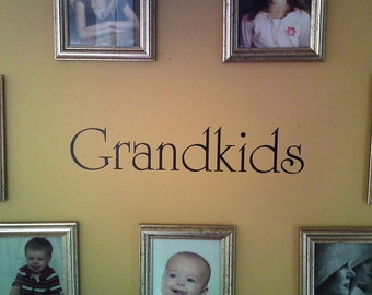 Grandkids wall decal