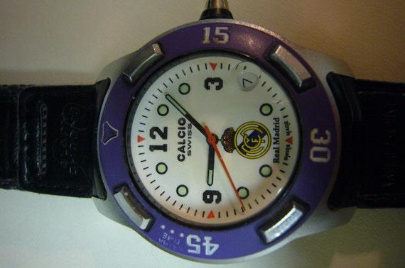 Wrist watch Wristwatch SOCCER Calcio Swiss Made Real Madrid Wrist watch European Soccer