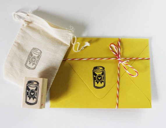 Beer love hand carved stamp