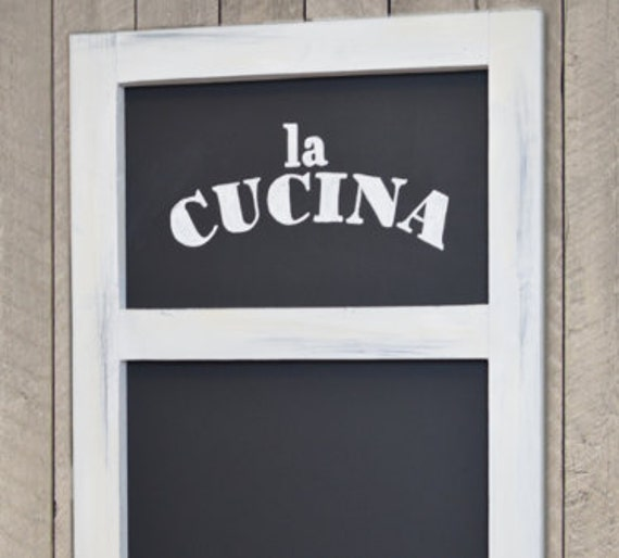 Kitchen Chalkboard With Ledge Wood Framed By