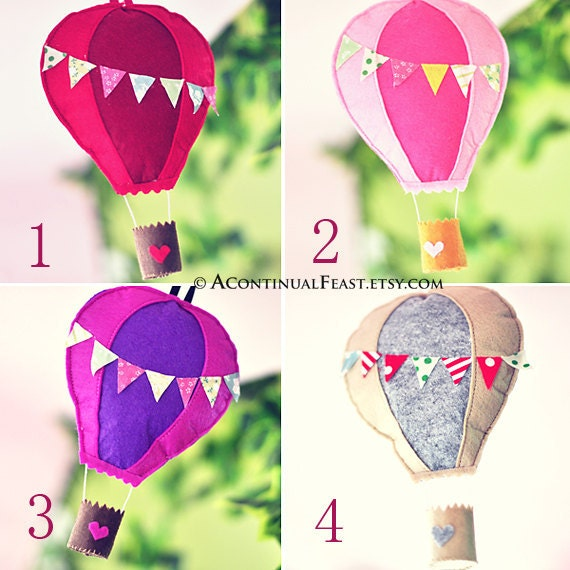 Hot Air Balloon Home Decor By AContinualFeast On Etsy
