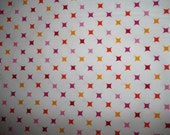 Multi colored dimonds on white Back ground by Caleb gray for Robert Kaufman great Blender 1 yard
