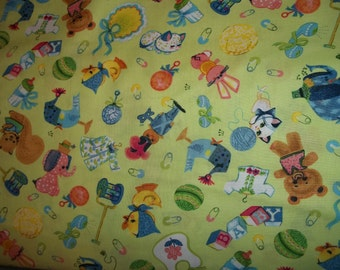 Rockabye designed by Michele Wojcicki for Avlyn Inc  very retro looking fabric this is for 1 yard