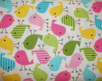 Urban Zoologie Screen Print D 11507 spring  Little Birds By Ann Kelle For Robert Kaufman Fabrics 1 yard Licensed Print