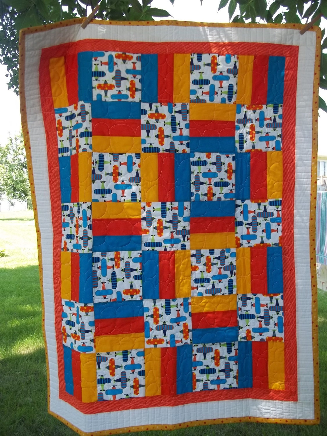 Sale Beautiful Handmade Quilt With Pillowcase Made Ready Set