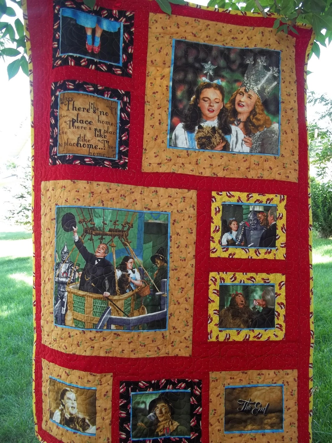 Beautiful Handmade Quilt Made With Fabric From Quilting
