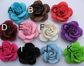 "20 Felt 2"" Rose 4D Flower-U PICK R088"