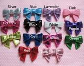 "14 Sequin 1.75"" Bow-14 Colors U PICK R109"