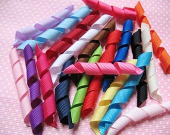 "120 pcs Precut 3/8"" Grosgrain Korker Ribbon-20 Colors RB058"
