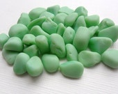 Reserved for GAMMY -35 small mint green MILK sea glass from Northern England