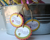 My Favorite Peep - Easter Tag - Decoration - Set of 3