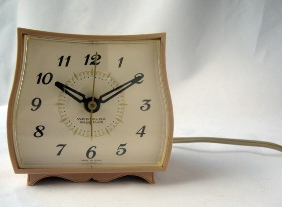 1960's Wesclox electric alarm clock with Magic Touch