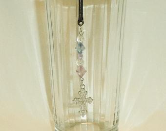 Bible Mark Silver Hook Cross Dangle,Cross Biblemark,Religious Biblemark,Religious Jewelry Religious,Religious Accessories by CindyDidit OOAK