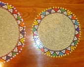 Authentic African Ndebele beaded placemats for hot plates, vases, drink glasses or decor in your home