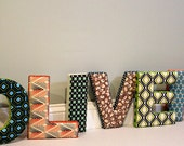 Fabric Letters : Vintage inspired