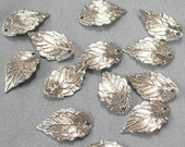 24  Pcs  Silver Plated Leaves Charm,Nickel Free