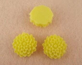 10 pcs 14 mm High Quality Unique Petite Daisy Cabochon, lemon