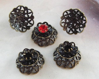12 pcs Antique Brass Plated Jewellry Charms 8x12mm