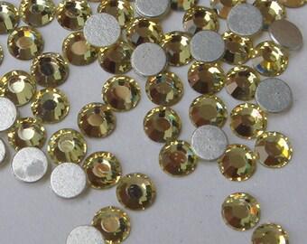 72 pcs swarovski  flat back crystal,Jonquil(SS9)