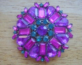 Pink, Purple and Blue Brooch