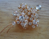 Sparkling Crystal Flower Brooch