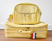 REDUCED Escort by American Tourister 2 Piece Yellow Luggage