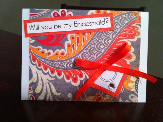 Handmade - Will you be my bridesmaid? Card