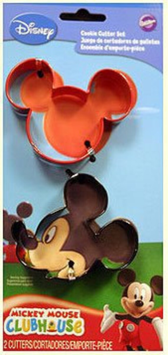 Wilton Set of 2 Mickey Mouse Disney Clubhouse Shape Cookie Cutters