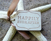 Happily Ever After Tags, Vintage Wedding Favor Tags, Bridal Shower Favor Tags, Fairytale, Cinderella