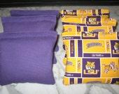 Louisiana State LSU Tigers Cornhole Bags ACA CERTIFIED Set of 8
