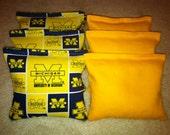 UM University of Michigan Wolverines Cornhole Bags Set of 8