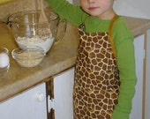 Kids Tan Giraffe Apron