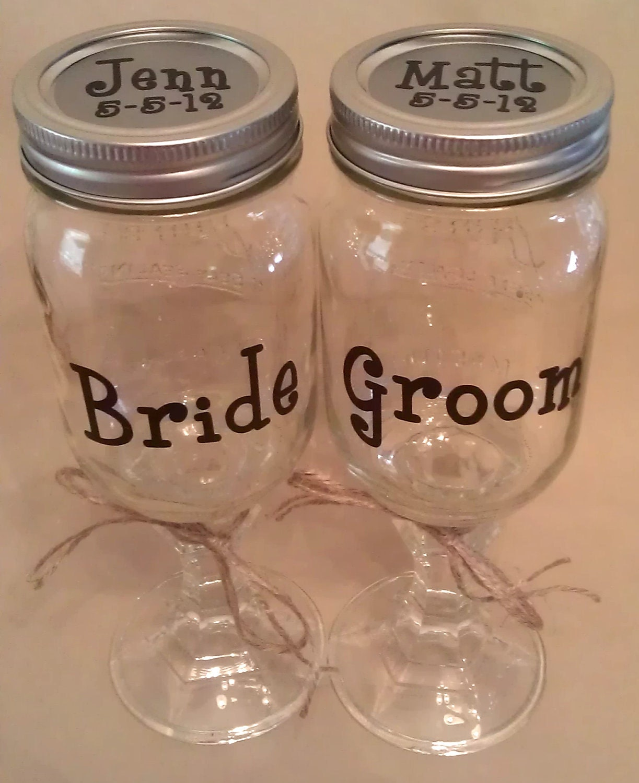 Custom Hillbilly REDNECK WINE GLASS Set Of Two For Bride