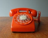 Reserved for kuenchang - 1970's Mod Orange Rotary Phone